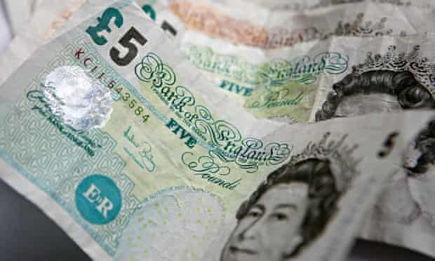 Five- and ten-pound notes
