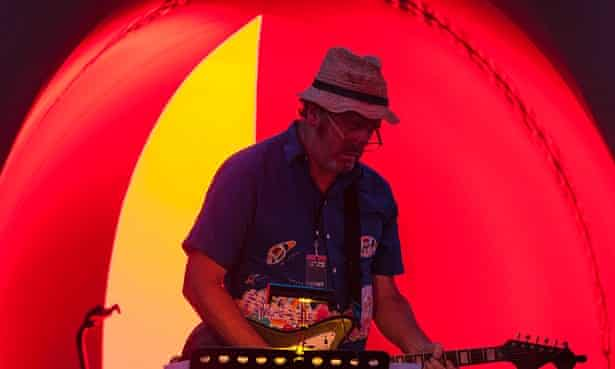 Jim Moginie inside Exxopolis, Mofo 2015