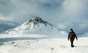 Snow in Glencoe, Scotland