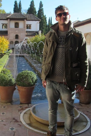 Josh Taylor at the Alhambra in Spain