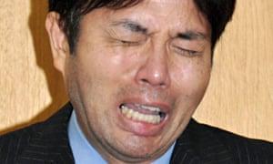 Footage of Ryutaro Nonomura sobbing through a marathon press conference went viral