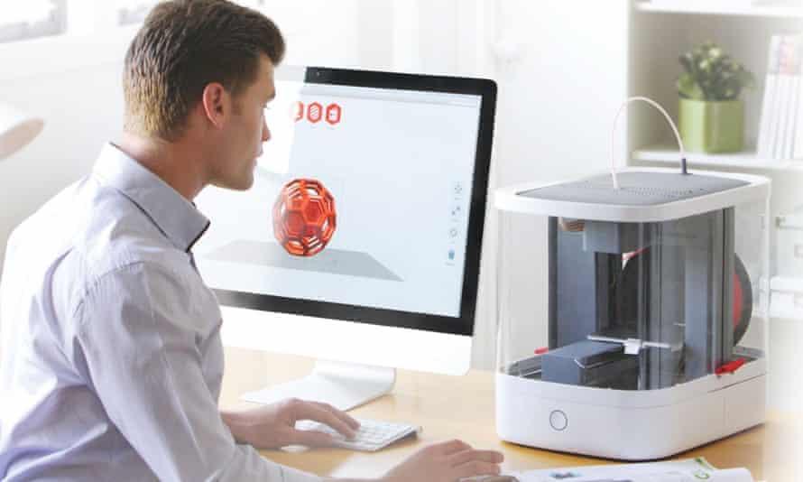 Sebastian Conran's studio designed the Vector 3 3D printer.
