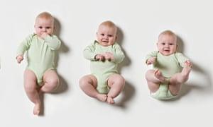 Three babies in a row