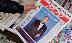 The 13 January edition of reformist daily Mardom-e Emrooz featuring George Clooney.