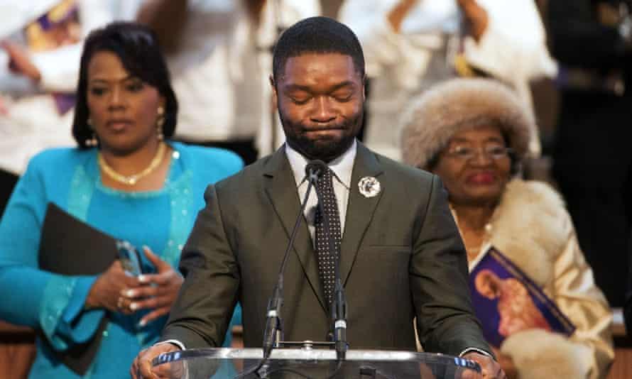 David Oyelowo at the Ebenezer Baptist church.
