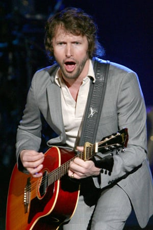 James Blunt: rocking out.
