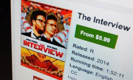 A computer screen showing The Interview available for download.