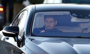 Liverpool captain Steven Gerrard arrives at Melwood.