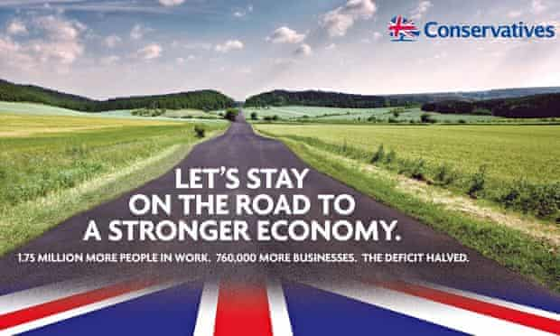 The Conservative campaign poster to be launched by David Cameron in Yorkshire