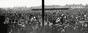 Rochdale fans swarm on to the pitch as they celebrate their 1971 2-1 win over Coventry City