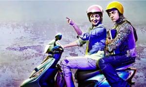 Aamir Khan and co-star Anushka Sharma in PK
