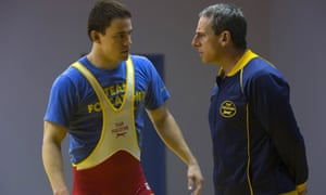 Sparring partners ... Channing Tatum and Steve Carell in Foxcatcher