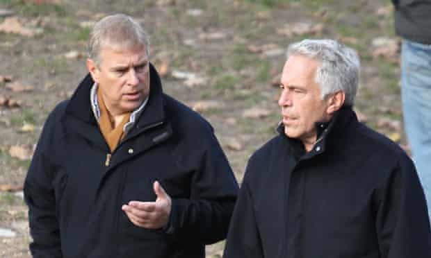 Prince Andrew and Jeffrey Epstein (right) pictured together in New York's Central Park.