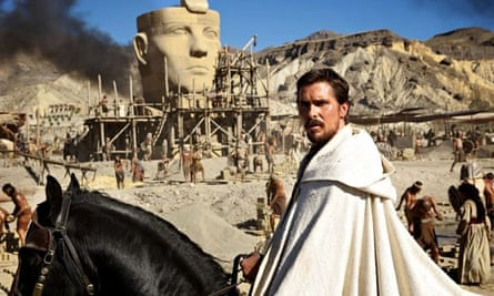 Blue-eyed Moses: Christian Bale in Exodus: Gods and Kings.