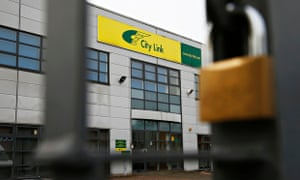 The gates at a City Link depot are padlocked shut on Boxing Day