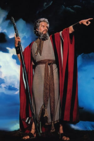 Charlton Heston in The Ten Commandments.