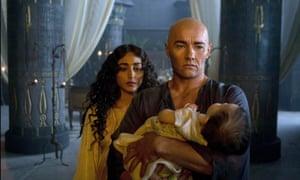 Heavy on the bronzer: Golshifteh Farahani and Joel Edgerton in Exodus: Gods and Kings.