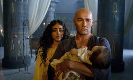 Heavy on the bronzer: Golshifteh Farahani and Joel Edgerton in Exodus: Gods and Kings.
