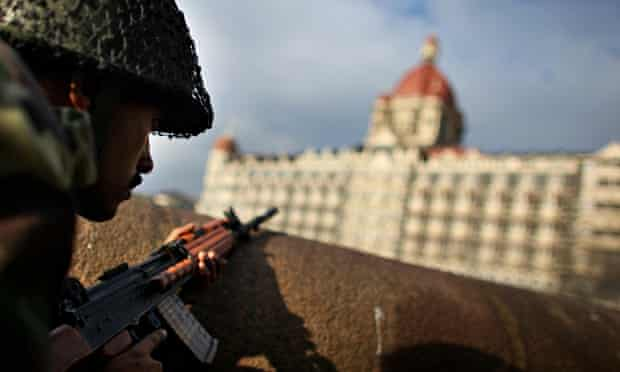 Aftermath of the Mumbai siege in 2008