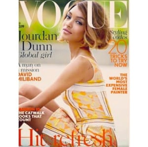 Jourdan Dunn on cover of British Vogue from her instagram account