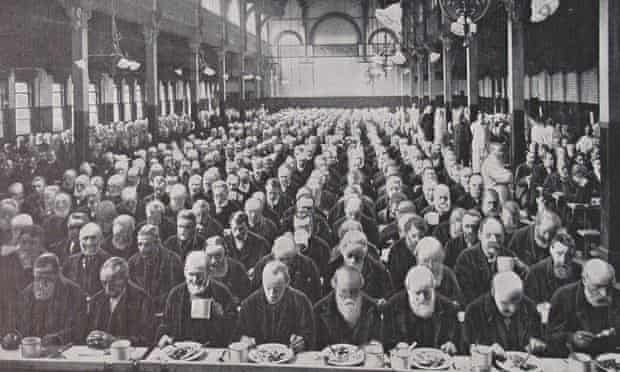 Mealtime at the in St Marylebone workhouse c1900