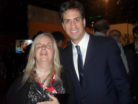 Emily Brothers with Labour leader Ed Miliband