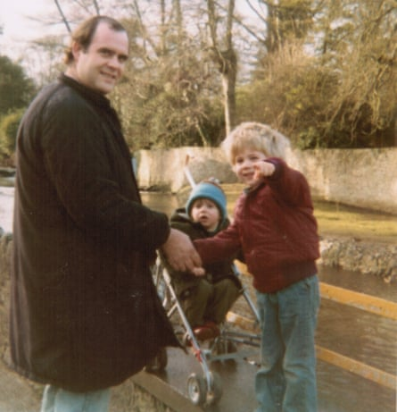 Will Boast (pointing) with his father and brother in Ireland.