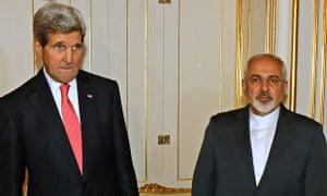 John Kerry and Mohammad Javad Zarif Iran nuclear talks