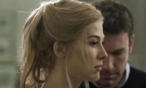 Rosamund Pike as Amy Dunne in the film adaptation of Gone Girl