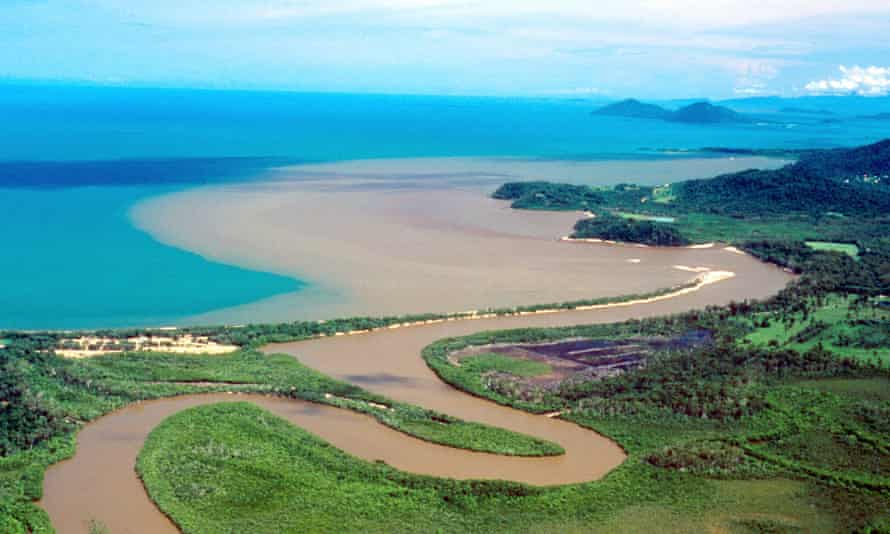 Sediment from the Maria Creek near Mission Beach in far north Queensland heading towards the Great Barrier Reef.