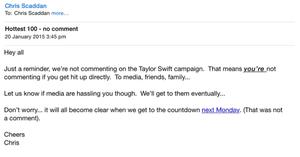 Triple J leaked email