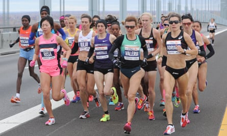 Elite women runners in the 2013 New York marathon.