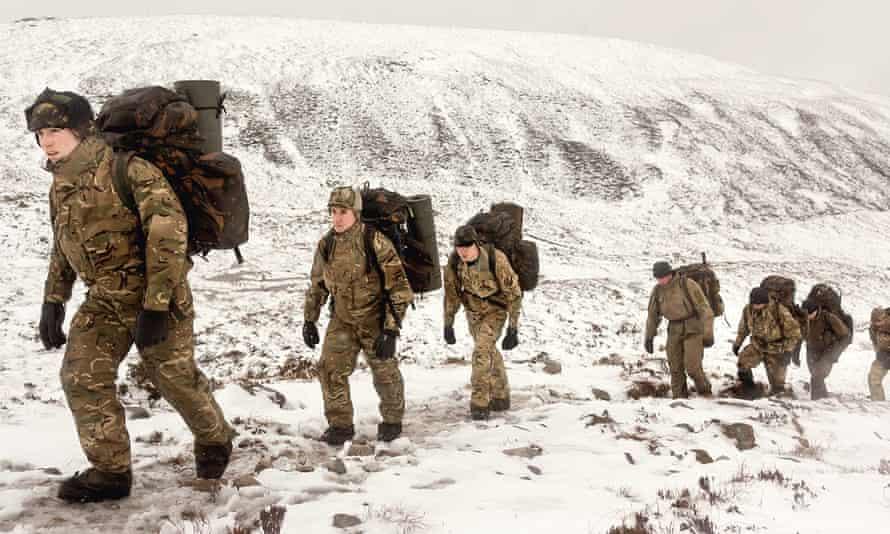 Marines: snow