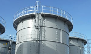 The water tank into which the worker fell