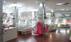 The gift shop at Koryo Hotel in Pyongyang