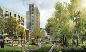 Artist's impression of how the West Hendon estate will look.