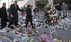 New York City Mayor Bill de Blasio in Paris