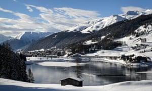 Davos on the eve of the World Economic Forum annual meeting on 20 January 2015.