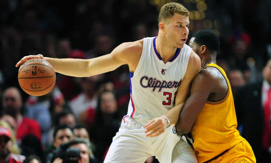 Talismanic forward Blake Griffin moves the ball for the LA Clippers, a team bolstered by its owner Steve Balmer's focus on bringing data and technology to bear in basketball.