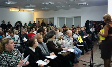 A Belarusian language class at Gallery Y in Minsk