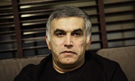 Bahraini human rights activist Nabil Rajab