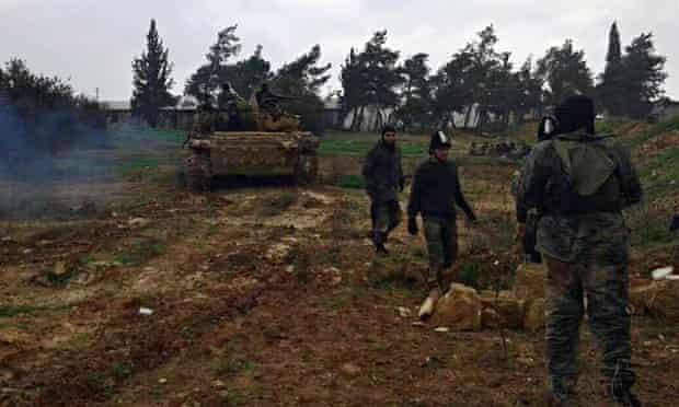 Jihadi fighters in Syria