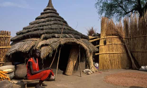 A traditional homestead in Gambela, Ethiopia