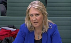 Sharon Evans gives evidence to the home affairs select committee on Tuesday.