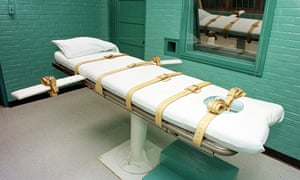 Execution chamber at the Texas Department of Criminal Justice Huntsville Unit in Huntsville, Texas.