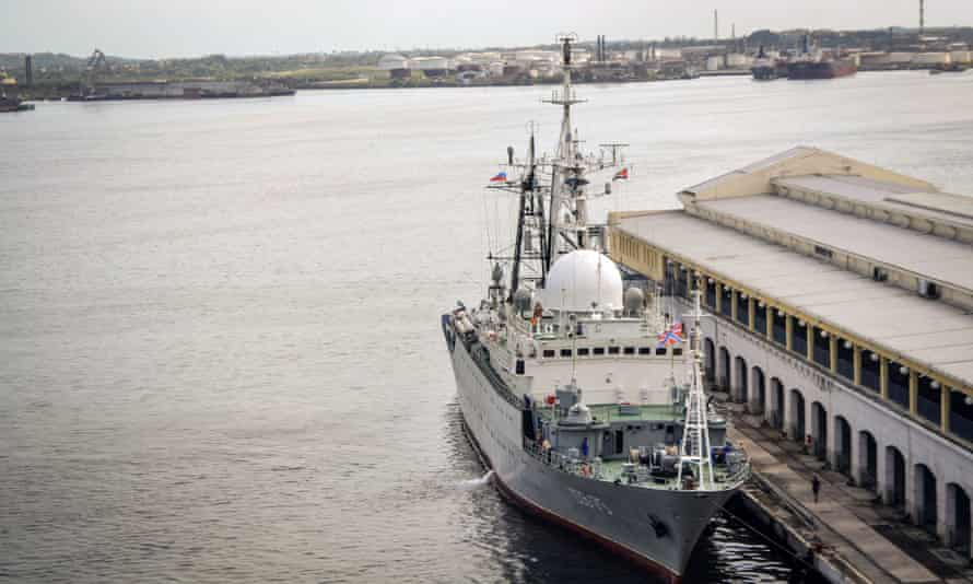 russian intelligence ship cuba