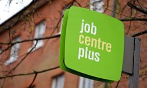 A jobcentre sign in Basingstoke