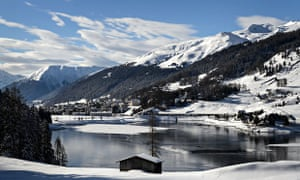 The ski resort of Davos on the eve of the World Economic Forum