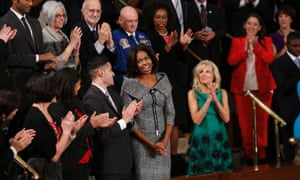 c850bc24d8 First lady Michelle Obama wore a tweed Michael Kors suit to the state of  the Union