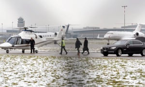 World Economic Forum attendees use air taxis to travel from Zurich airport in Kloten to Davos, Switzerland.